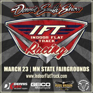 Indoor Flat Track Racing at the Minnesota State Fairgrounds March 23, 2018