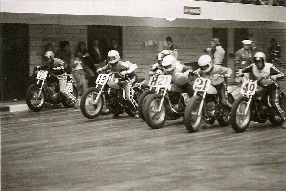 "Indoor Flat Track Racers thunder off the line during ""The Indoors"""