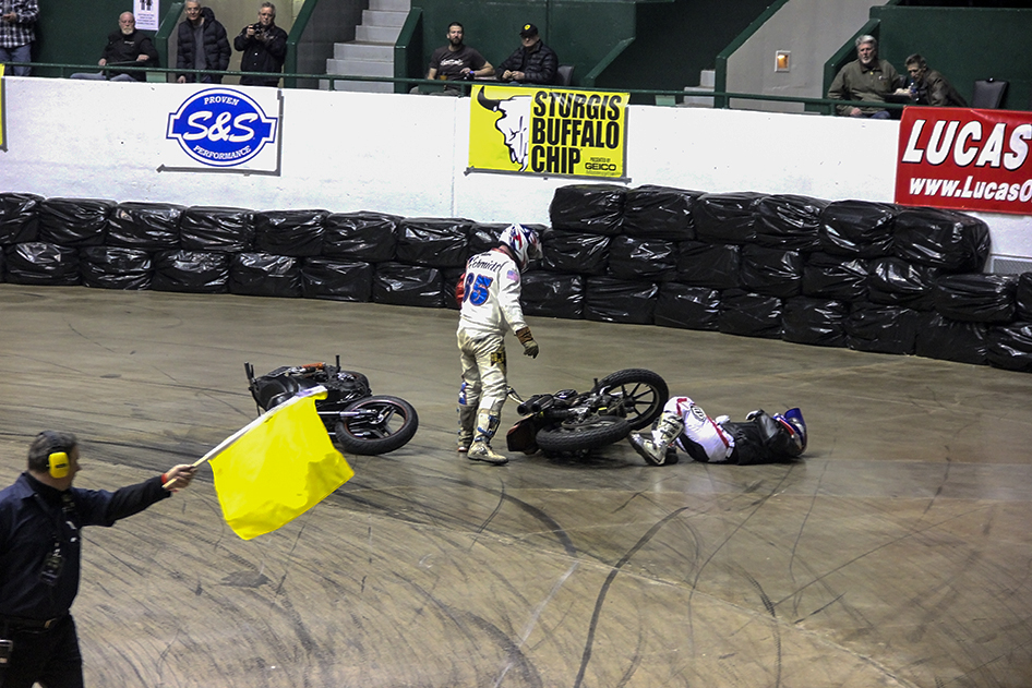 Hooligans Battle It Out at War of the Twins II Indoor Flat Track Races